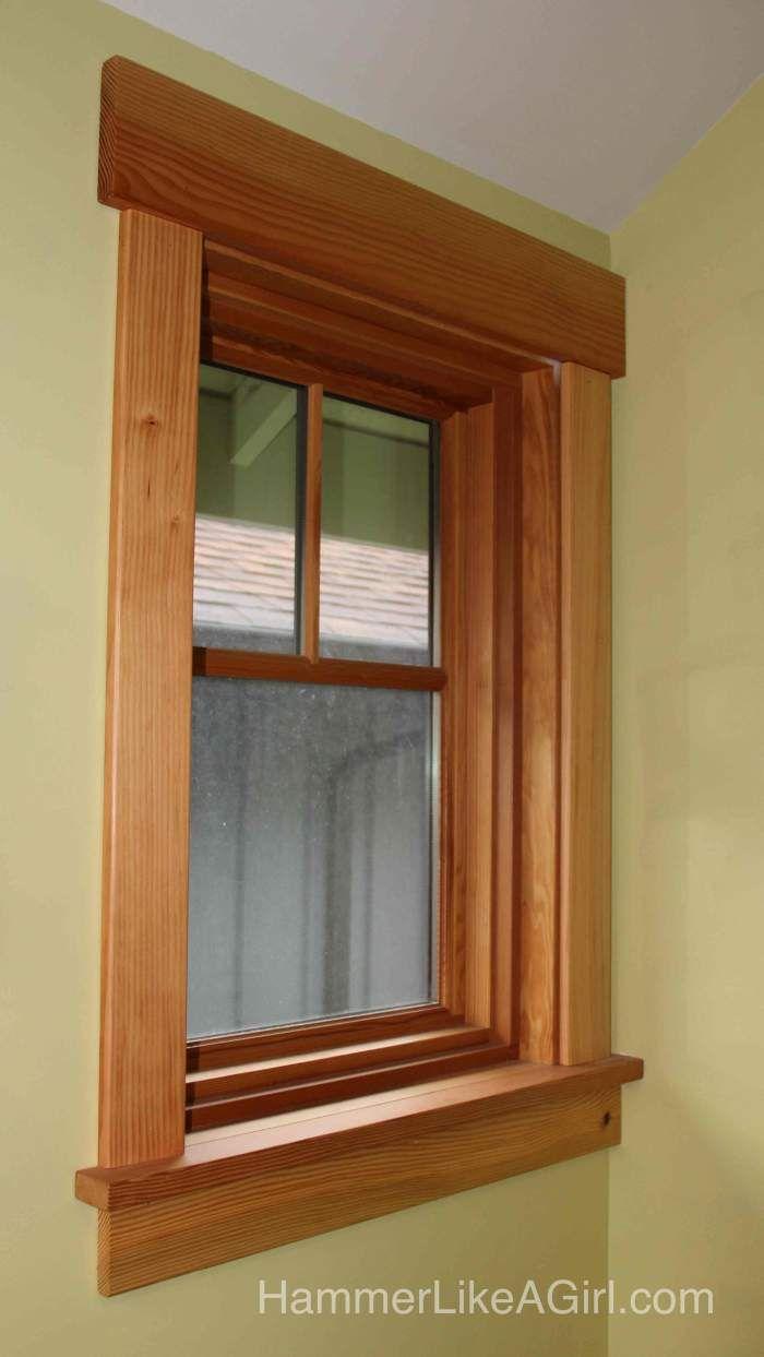 Rustic window trim styles - Installing Craftsman Window Trim Finally