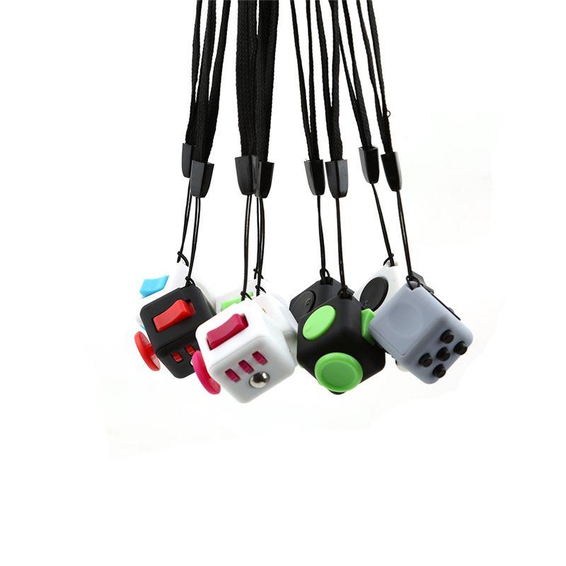 Mini 2.2 CM Fun Magic Bureau Speelgoed Fidget Cube Originele Vinyl Verlicht Angst & Stress Juguete Met Doos Voor Volwassenen Squeeze Meisje Gift