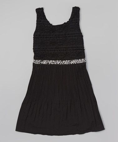 Another great find on #zulily! Black Lace Dress - Girls #zulilyfinds