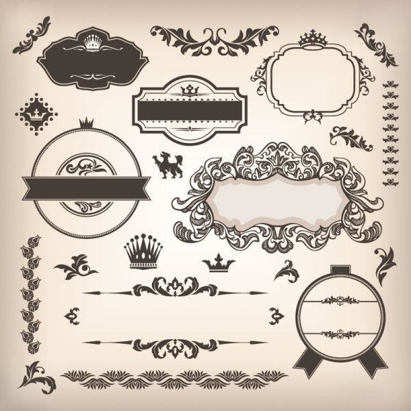 100 Free Vintage And Retro Labels And Badges Free Graphics Resources And Inspiration For Designers Page Decoration Vector Free Design Elements