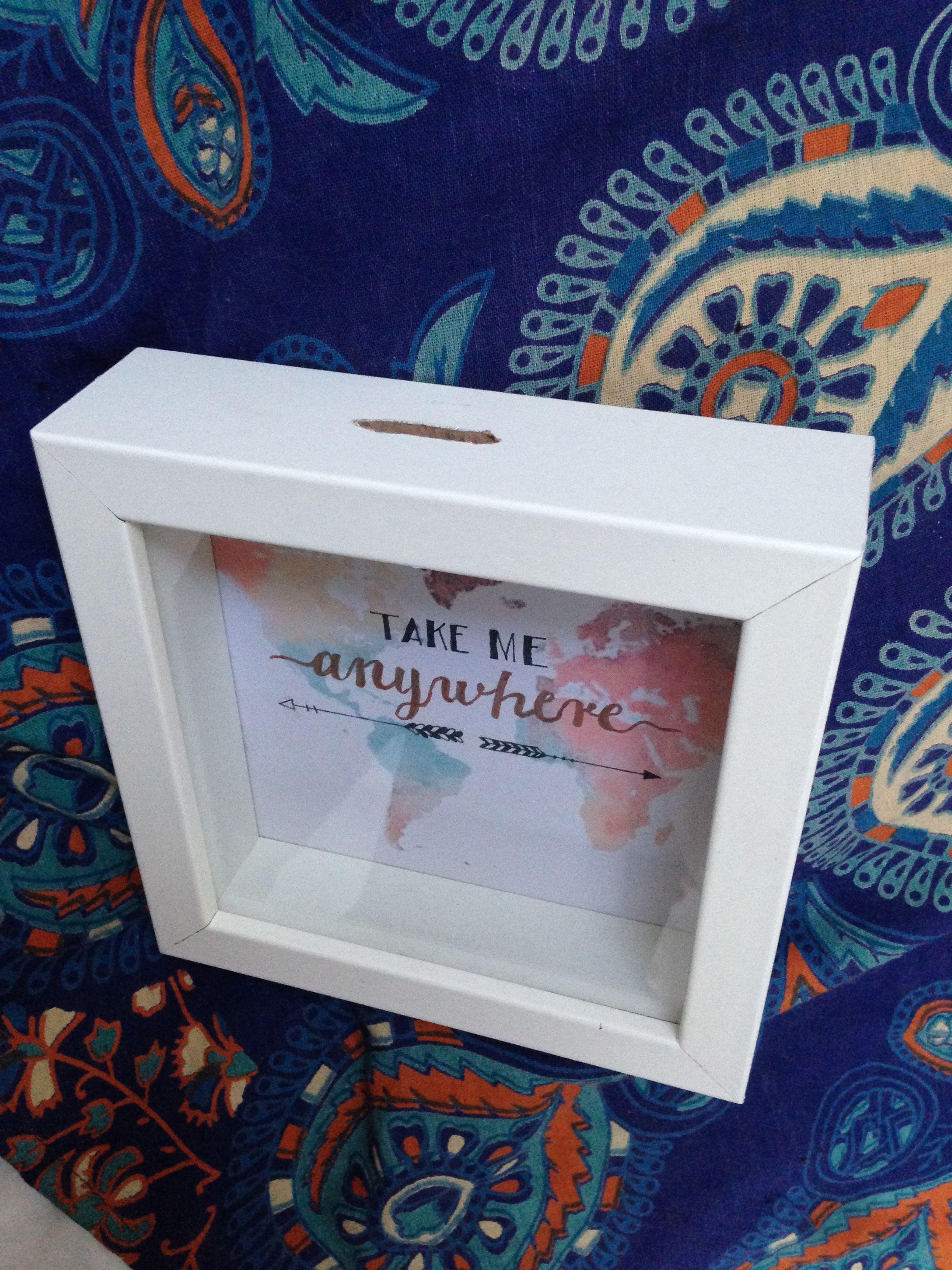 Diy Spardose aus Ikea Bilderrahmen selber machen  D I Y  Frame und DIY