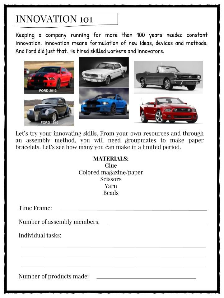 Henry Ford Facts Worksheets Includes Lesson Plans Study