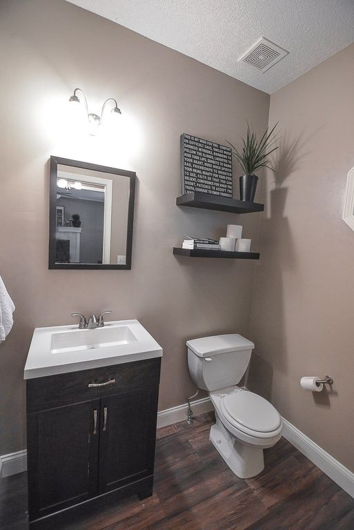 Traditional Powder Room With Powder Room High Ceiling Flush Home Decorators Collection Black