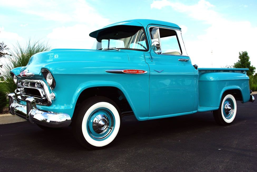 1957 Chevrolet 3100 Indian Turquoise 57 Chevy Trucks Chevy Pickup Trucks 1957 Chevrolet