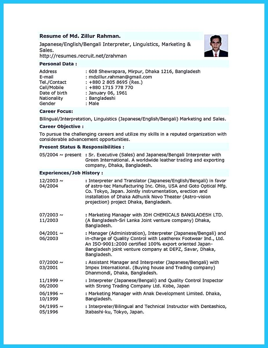 awesome Breathtaking Facts about Bilingual Resume You Must Know ...