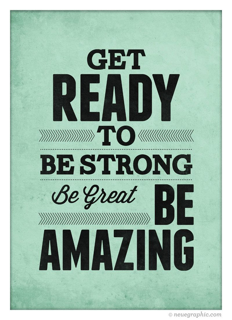 Motivational quote poster Get ready to Be Strong by ...