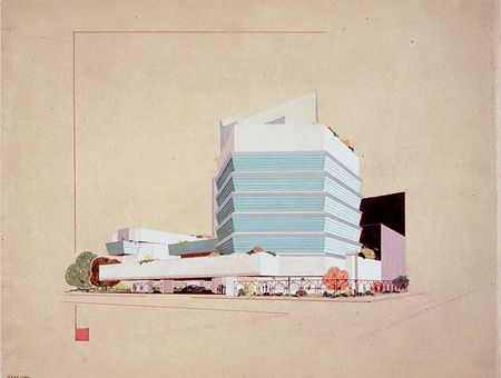 Early #design of Frank L. Wright #Guggenheim #museum in #NYC