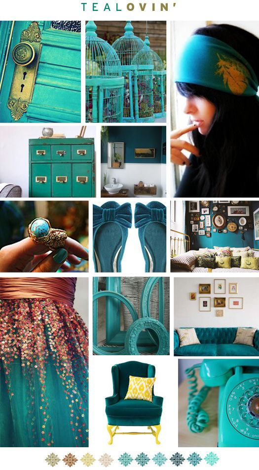 teal, teal and more teal. heavenly.