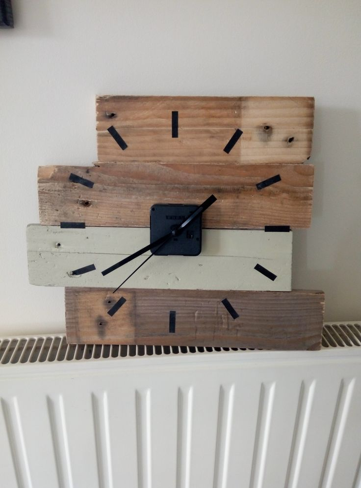 tutoriel diy horloge en bois de palette en 2018 recycled. Black Bedroom Furniture Sets. Home Design Ideas