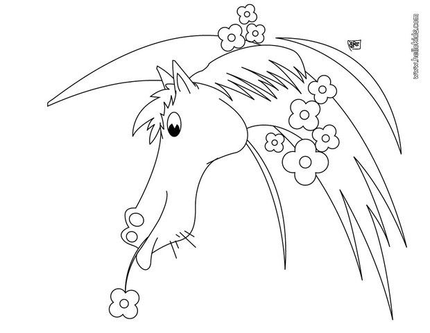 Flowered Horse Coloring Page Cute And Amazing Farm Animals For Kids More