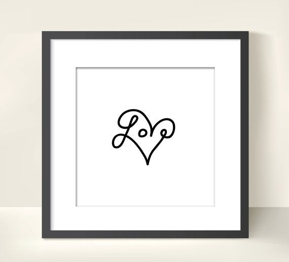 LOVE Wall art print...would look nice in some ink too