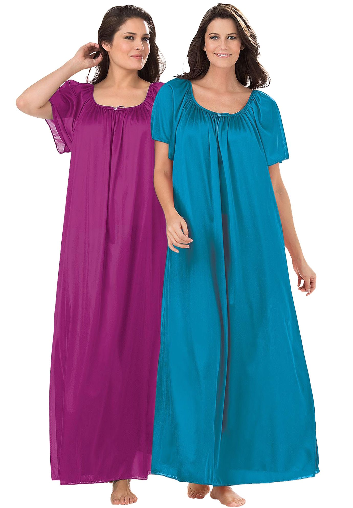 Green Women/'s Plus Size Floral Cotton Blend Long Sleeve Nightgown,5X
