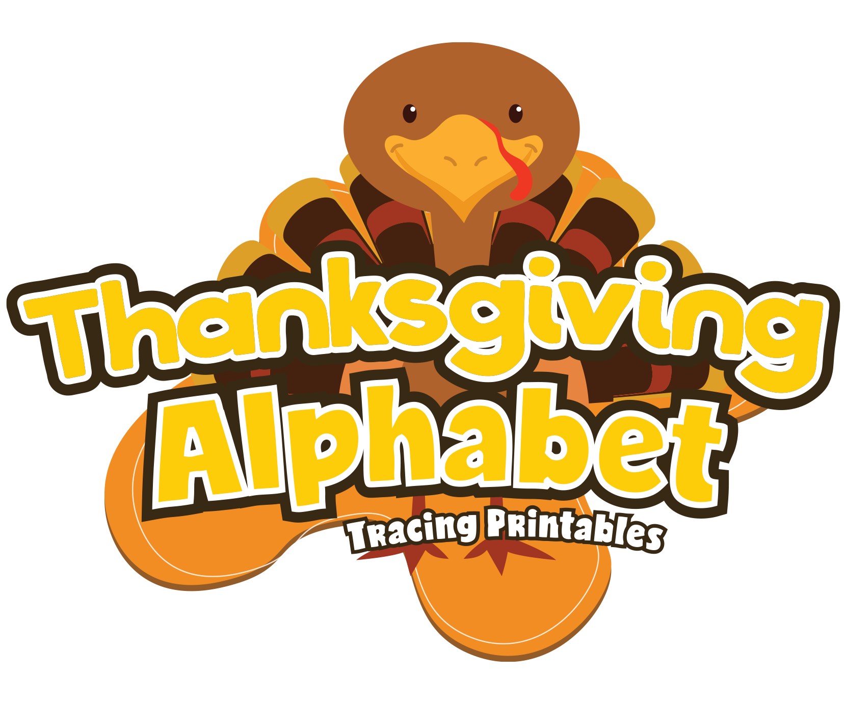 Thanksgiving Alphabet Letter Tracing Pack For Preschoolers