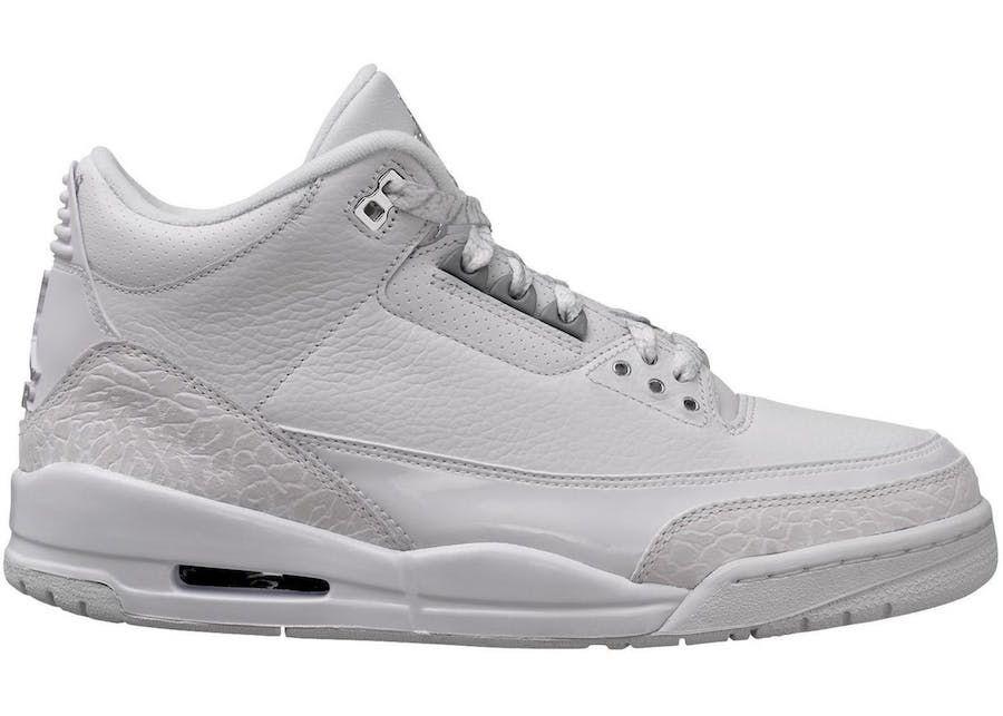 "Air Jordan 3 ""Triple White"" Releasing this Summer 2018  588500f6b"