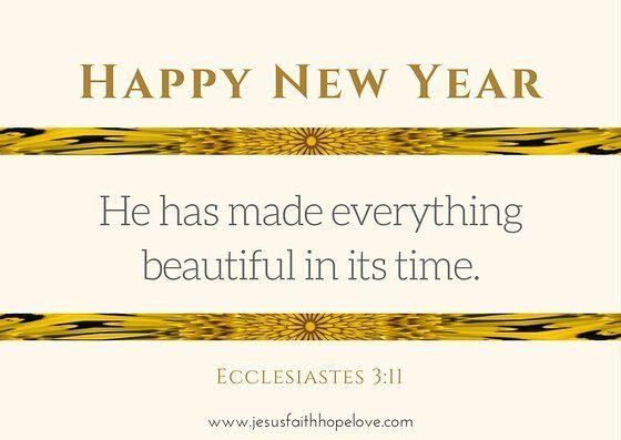 Www.jesusfaithhopelove.com Happy New Year Beautiful Gold Brown ...