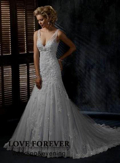 Silver Lace Wedding Dress