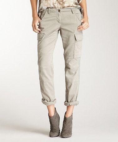 Loving this Military Green Fitted Cargo Pants on #zulily! #zulilyfinds
