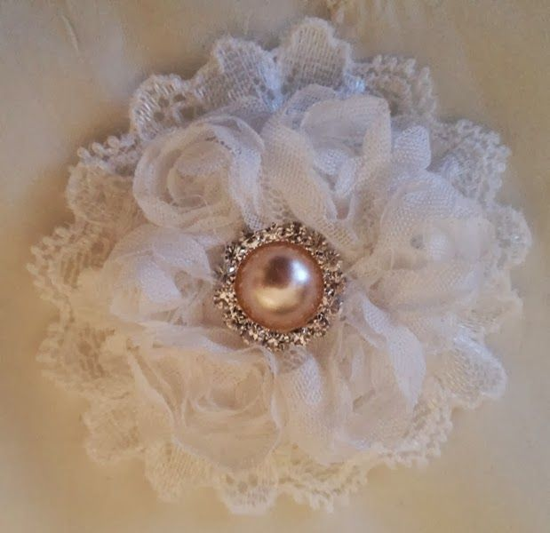 Annes Papercreations: Shabby Chic Lace Flower Tutorial