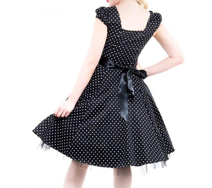 0b8834ee H & R London Princess Small Dots 50-talls Kjole - Midnatt.no - Retro ...