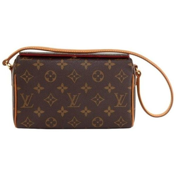 6985fa0923d5 Preowned Louis Vuitton Recital Monogram Canvas Shoulder Hand Bag (3.275  NOK) ❤ liked on Polyvore featuring bags
