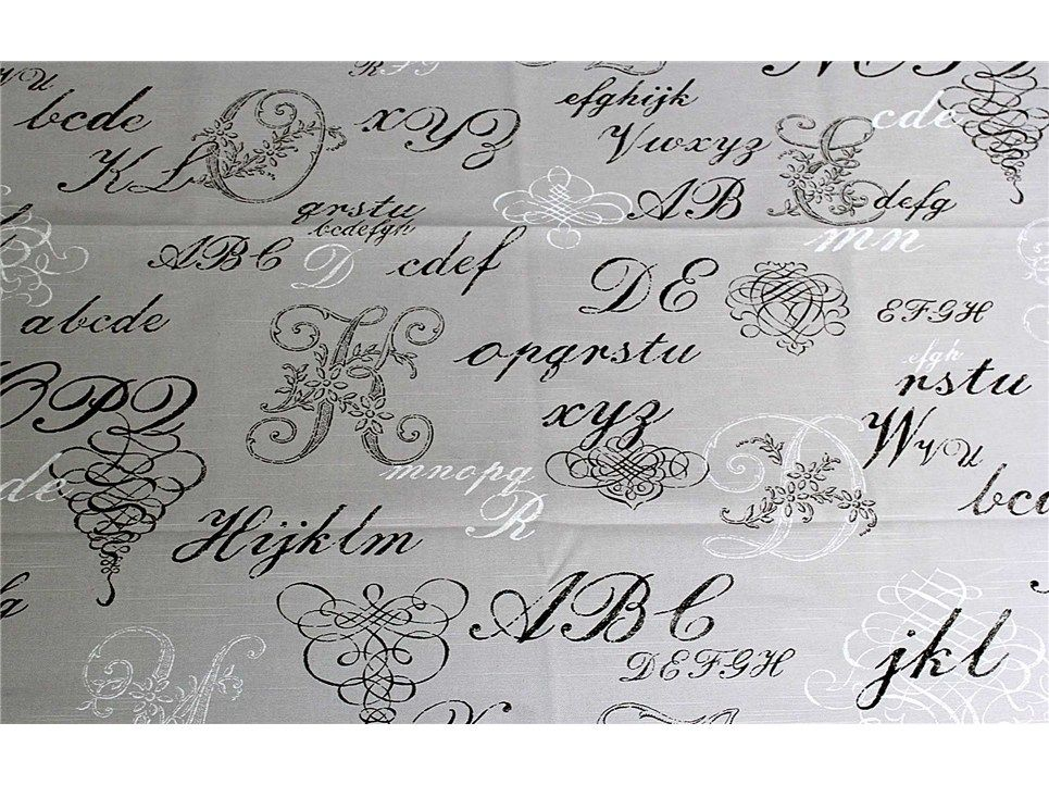 DEC20-11 Pewter Monogram Fabric