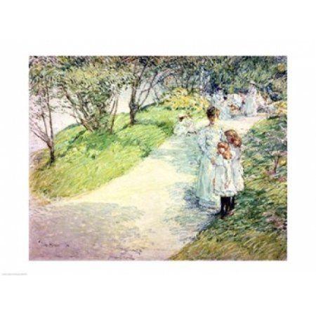 Posterazzi Promenaders in the garden 1898 Canvas Art - Childe Hassam (36 x 24)