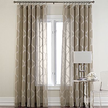 Jcp Cindy Crawford Style Kya Rod Pocket Draperies Living Room