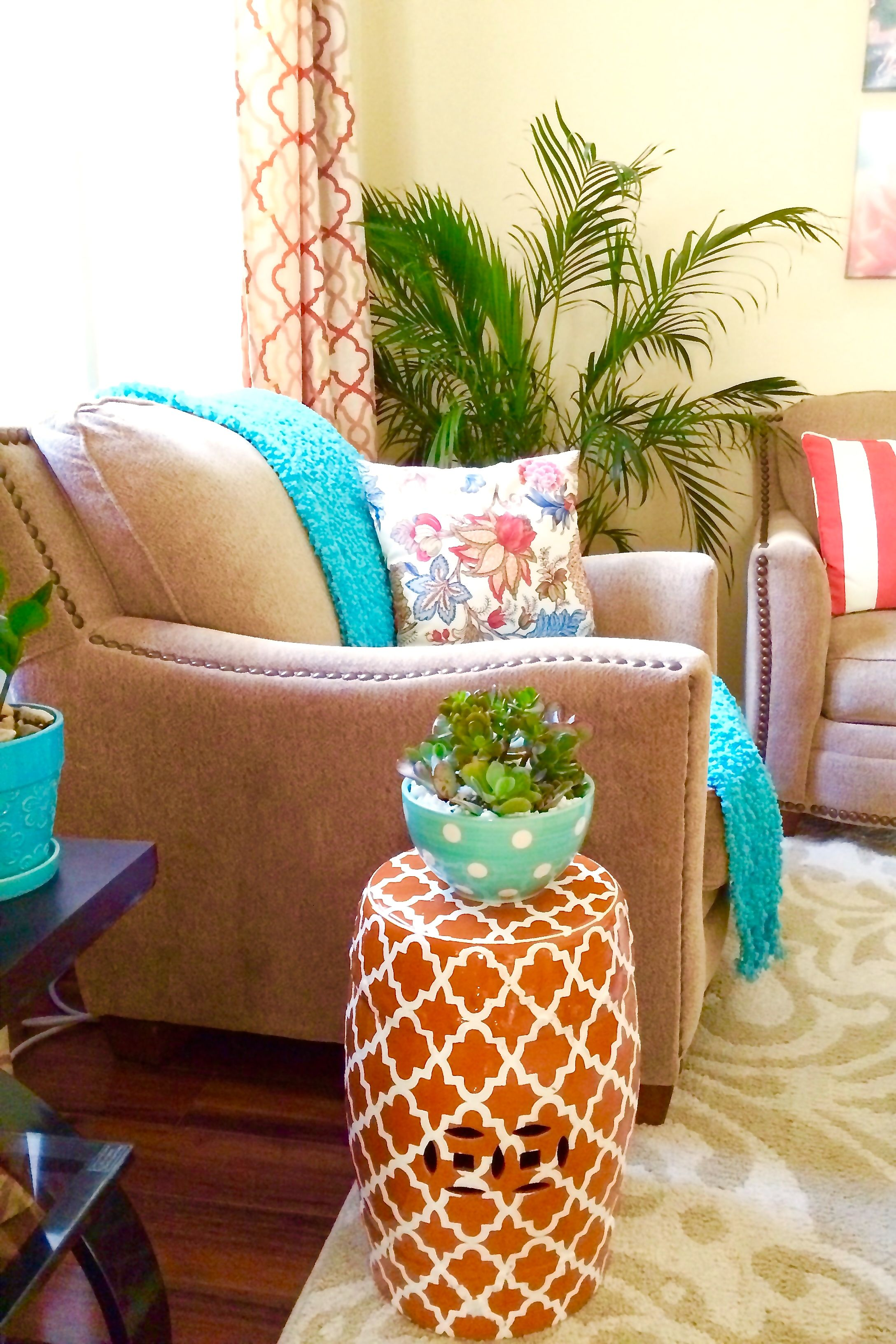 10 Most Popular Orange And Turquoise Living Room