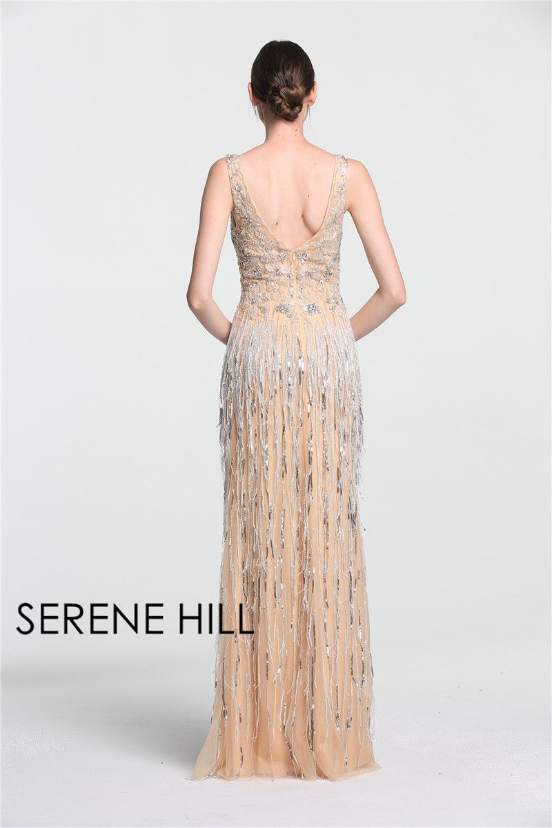 Sexy deepv mermaid gold tulle evening dresses newest beading