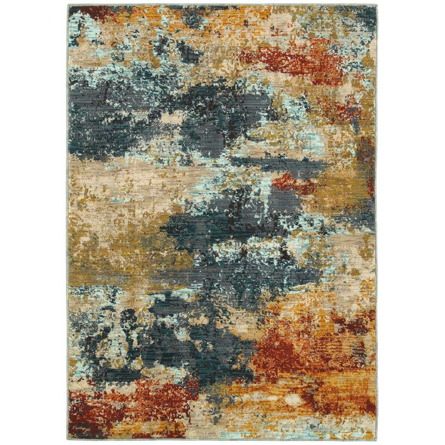 Oriental Weavers Of America Brisbane Multicolor Rectangular Indoor Woven Area Rug Common 5 X