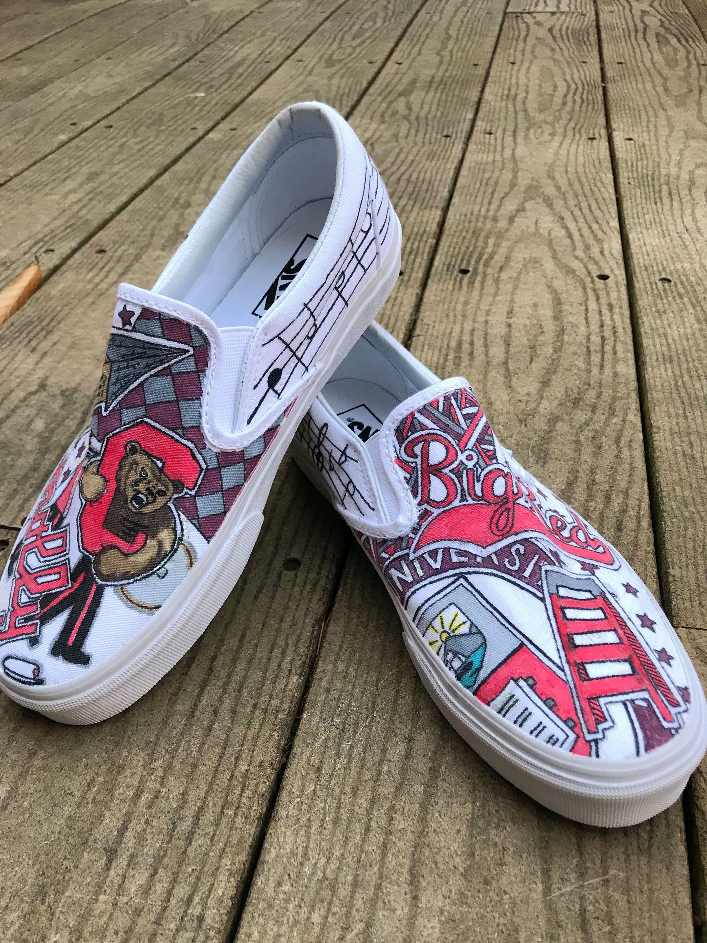 46376abc03 Excited to share the latest addition to my  etsy shop  Customized Sneakers  - Cornell University College - Handmade Vans personalized to your  specifications ...