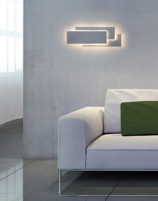 Led Wandleuchte Edge Weiss Moderne Wandleuchten Beleuchtung Wohnzimmer Moderne Wand