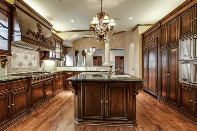 This is the kitchen in a French Renaissance style home we designed ...