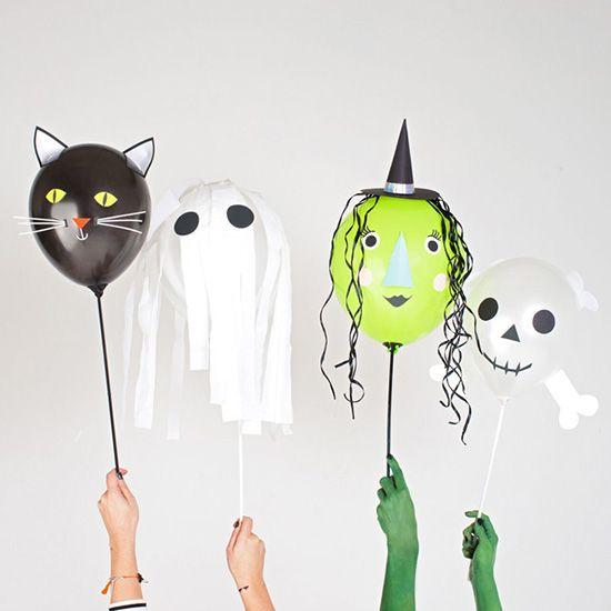 halloween party ideen basteln f r halloween halloween halloween balloons und halloween food. Black Bedroom Furniture Sets. Home Design Ideas