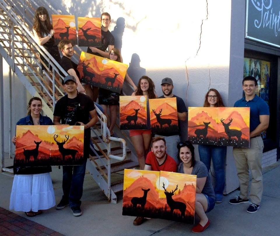 How fun would this be for a date night paint night? OMG