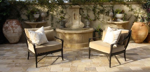 The Wrought Iron Chairs And Patio Tiles Help This Global Decor Whisk Us To  Mediterranean Europe