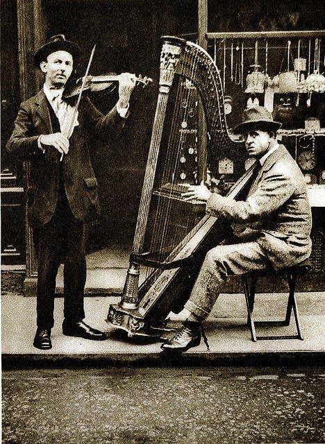 Street Musicians London 1900s | Harps | Londres, Arpa, Ciudad de londres