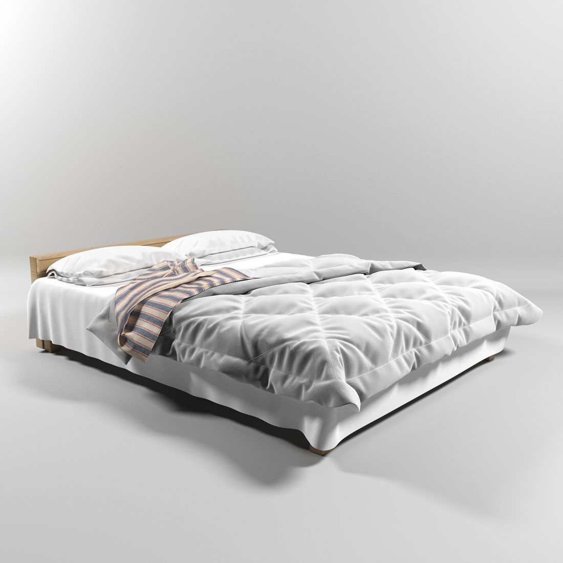 3d Bed Model 140 Free Download By Ramizvardar Bed Low Bed Model
