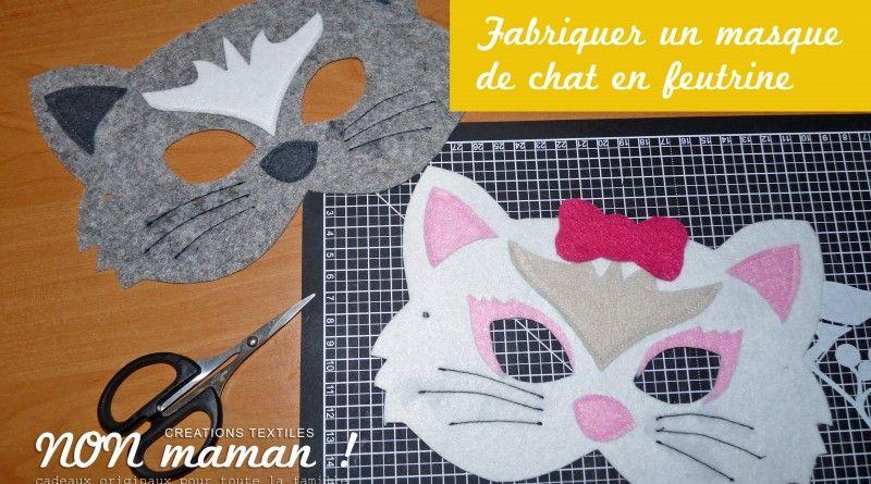 Très tuto masque chat feutrine | enfants !! | Pinterest | Feutrine  SU05