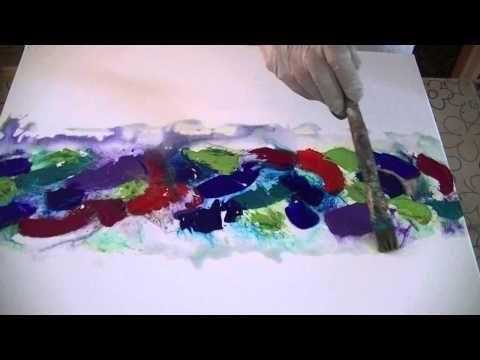 Strukturierte Farbe X Acrylmalerei Spachtel Spachteltechnik