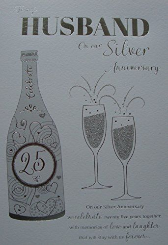 For My Husband On Our Silver Wedding Anniversary Card Icg