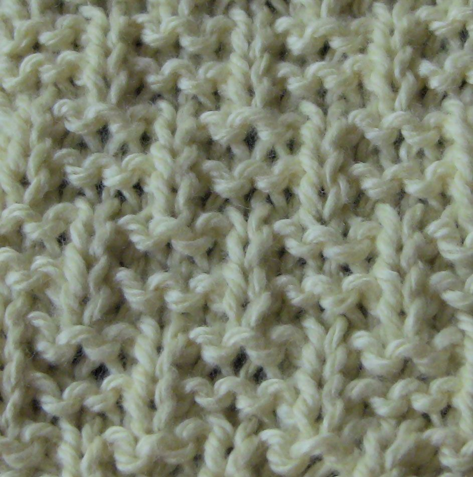 Sample knit with Kollage Milky Whey on US Size 3 needles