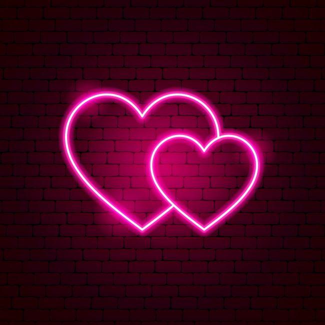 Couple Love Hearts Led Neon Sign Ilustracao De Coracao Caderno De Croquis De Moda Placas De Neon
