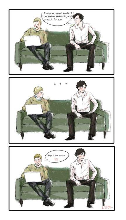 "Sherlockian for ""I love you""."