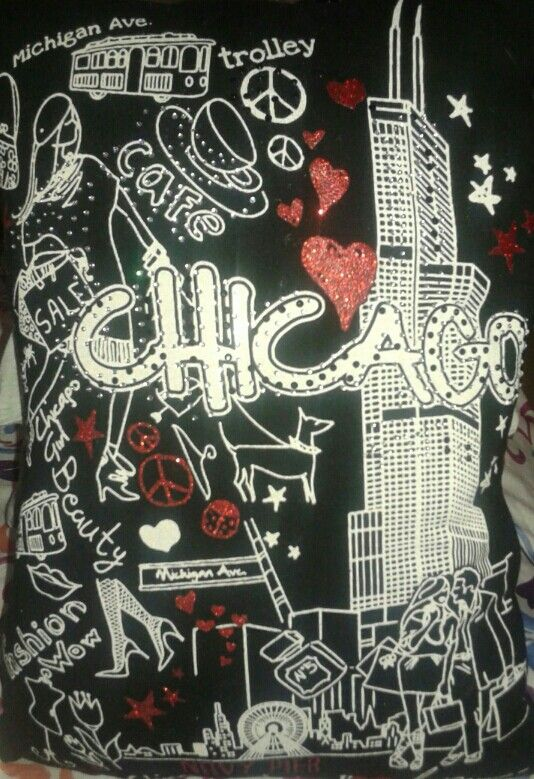 Chicago t shirt pillow #Chicago #fashion #trolley #michaganave #beauty #pillow #bellaslittlebowtique #forsale