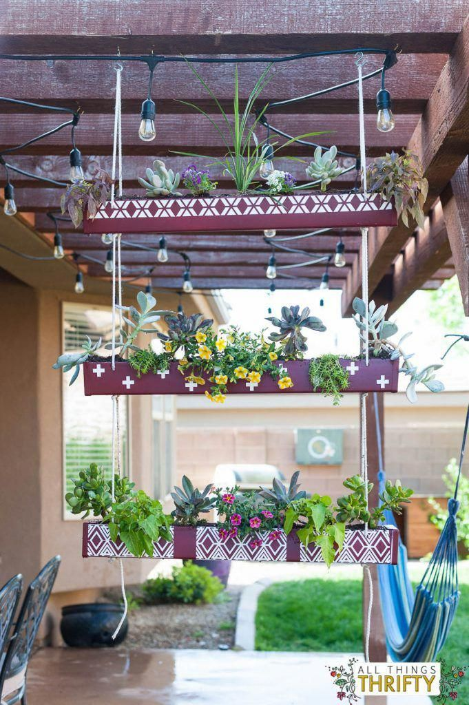 This Amazing Rain Gutters Can Be An Inspiring And First Class Idea Raingutters In 2020 Balcony Hanging Plants Hanging Planters Hanging Plants Indoor
