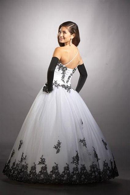 c4764ae3e436 vestidos para aniversário de 15 anos branco e preto | DEBUTANTE ...
