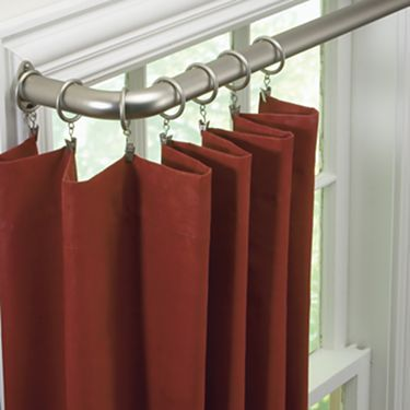 New Curtain Rods For Living Room StudioTM Curved Diameter Rod From JCPenney