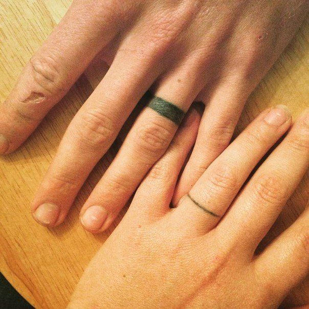 78 wedding ring tattoos done to symbolize your love - Wedding Rings Tattoos