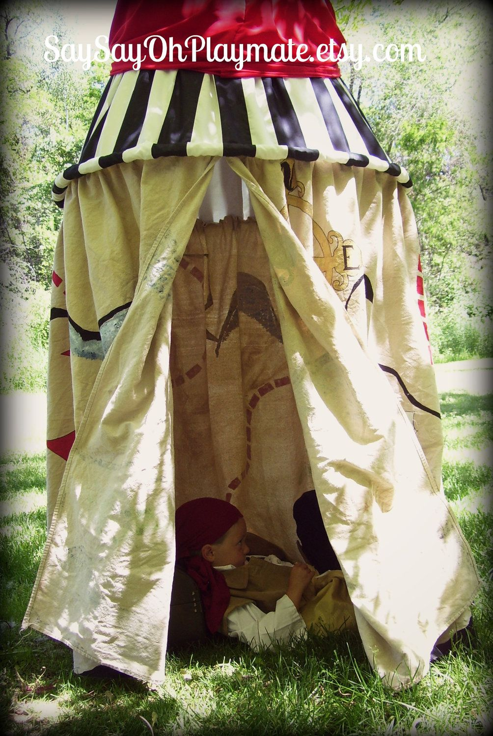 Boy Pirate Canopy Tent from by saysayohplaymateshop on Etsy. This is my cousinu0027s sight and & Boy Pirate Canopy Tent from by saysayohplaymateshop on Etsy. This ...